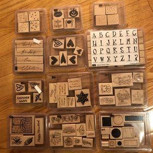Stampin Up Stamp Set Lot